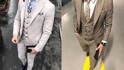 5ea312a61a388 أحدث البدل التركي الرجالي لهذا العام Slim Fit بدرجات الألوان White - Caffe  - Duration  3 10.