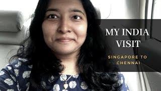 சிங்கப்பூர் to சென்னை- Tamil Vlog || Singapore Changi Airport Terminal 4