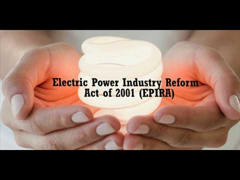 Electric Power Industry Reform Act of 2001 (EPIRA) - FLECO