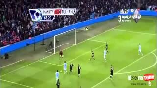 أهداف مانشستر سيتي 2-0 فولهام -19_1_2013-فهد العتيبي-HD