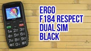 Розпакування Ergo F184 Respect Dual Sim Black