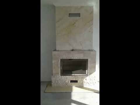 Обзор камина с венецианской штукатуркой!