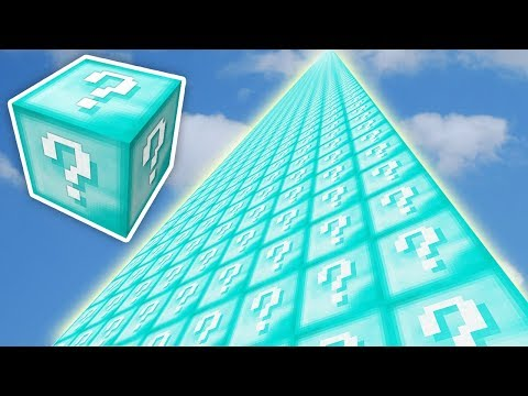 SONSUZ ELMAS KULE ŞANS BLOKLARI CHALLENGE - Minecraft