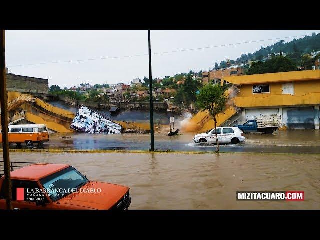 Qué pasó con las obras de la barranca del Diabo en Zitácuaro?
