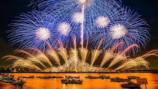 [4K Ultra HD] 桑名水郷花火大会 2017 2尺玉17発! NTN100周年記念 超特大仕掛花火 - Kuwana Suigo Fireworks Festival - thumbnail