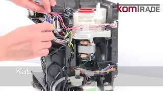 ECAM Mahlwerk ausbauen-ersetzen-tauschen-einbauen Delonghi Ersatzteile Reparaturanleitung