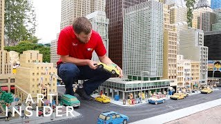 Mini Versions Of Cities Made Out Of Legos