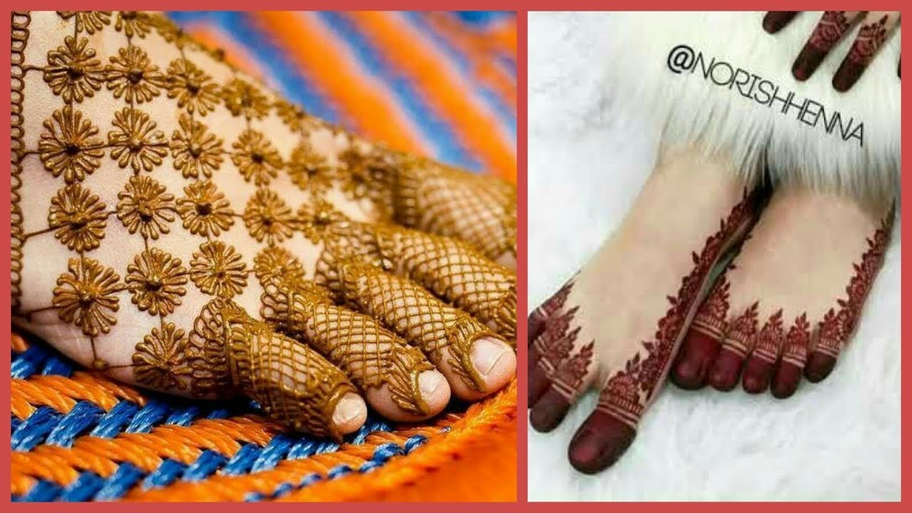 simple bridal mehndi designs for legs