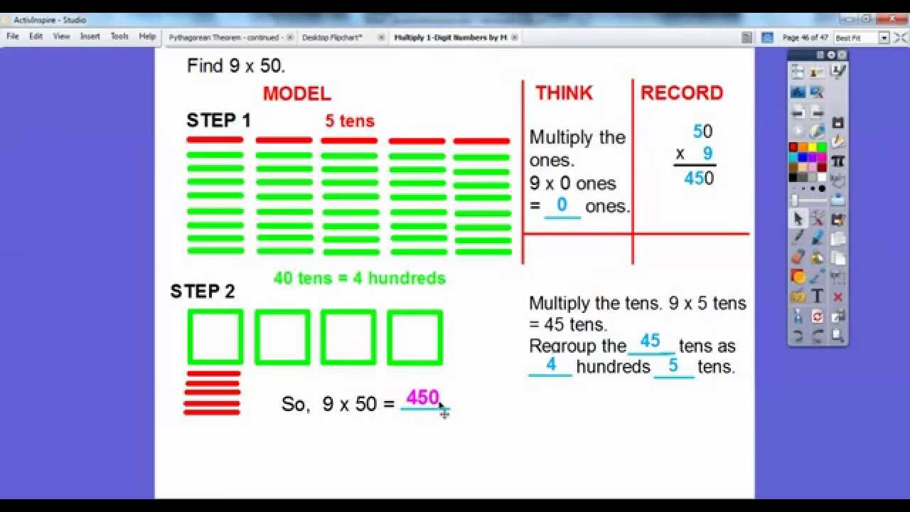 Worksheet Multiplying By Multiples Of 10 multiply multiples of 10 by 1 digit numbers lesson 5 youtube 5