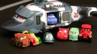 Cars 2 Lightning Mcqueen Micro Drifters Sally Rides Helicopter Hector Vector From Disney Planes