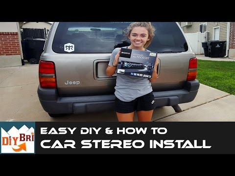 How To Install A Car Stereo | In A Jeep With Aftermarket Bluetooth Radio