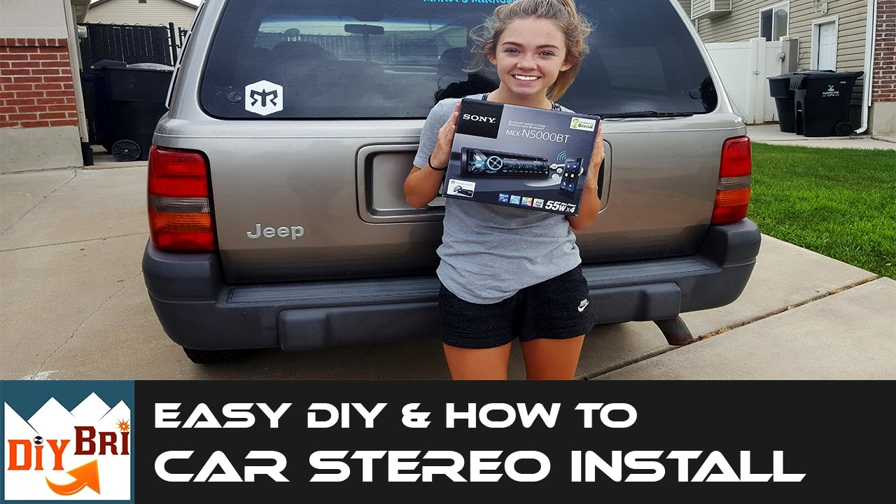 medium resolution of how to install a car stereo in a jeep with aftermarket bluetooth radio