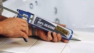Как наносить силиконовый или акриловый герметик.
