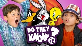 DO KIDS KNOW LOONEY TUNES CHARACTERS? (REACT: Do They Know It?)