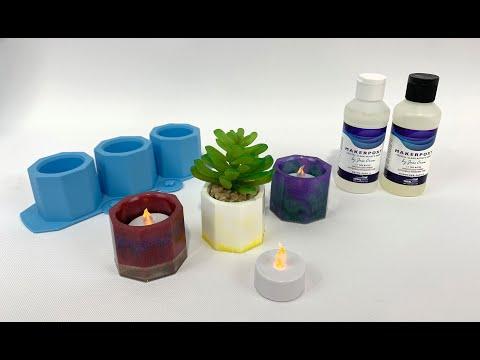 TotalBoat Epoxy Tea Light and Mini Planter DIY Kit