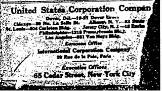 THE UNITED STATES CORPORATION COMPANY