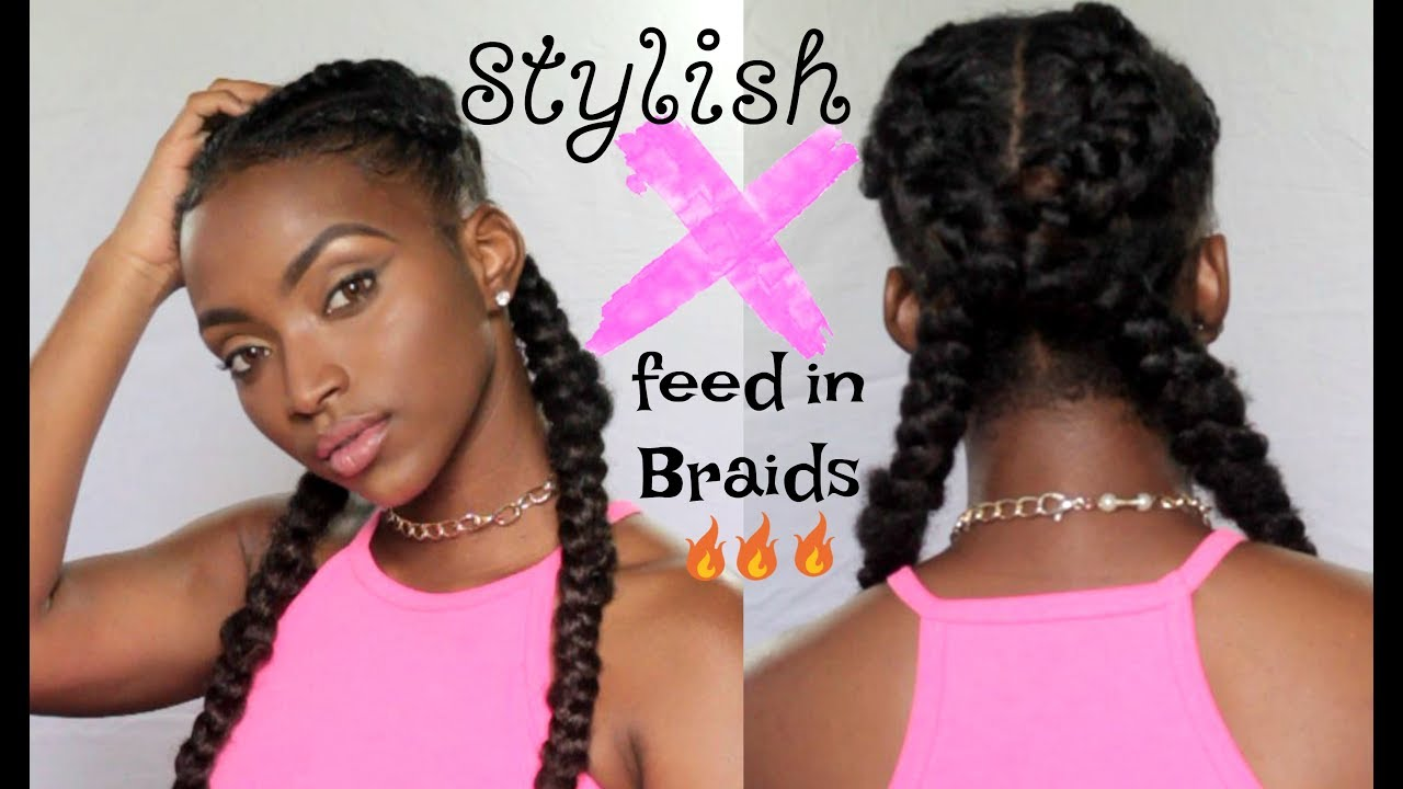EASY Feed In Braids | Scorpion U0027Xu0027 Braid Tutorial