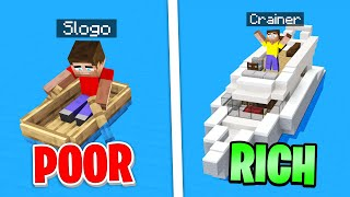 SUPER RICH Vs BROKE Lifestyle In MINECRAFT!