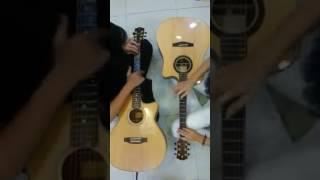 the future luca - phút ngẫu hứng của 2 bạn tại shop Guitarsaomai