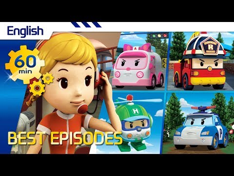 Robocar Poli | Best episodes (English) (60min) | Kids animation