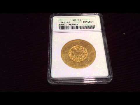 United States Mint Saudi Arabian Gold Piece: Freely Given to The Masses