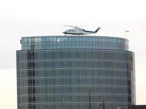 Helicopter Landing On The JW Marriott