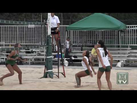 Rainbow Wahine Beach Volleyball Highlights 4-7-17