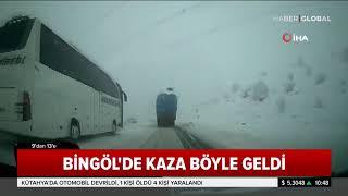 Otobüs ve Otomobil Kafa Kafaya Çarpıştı