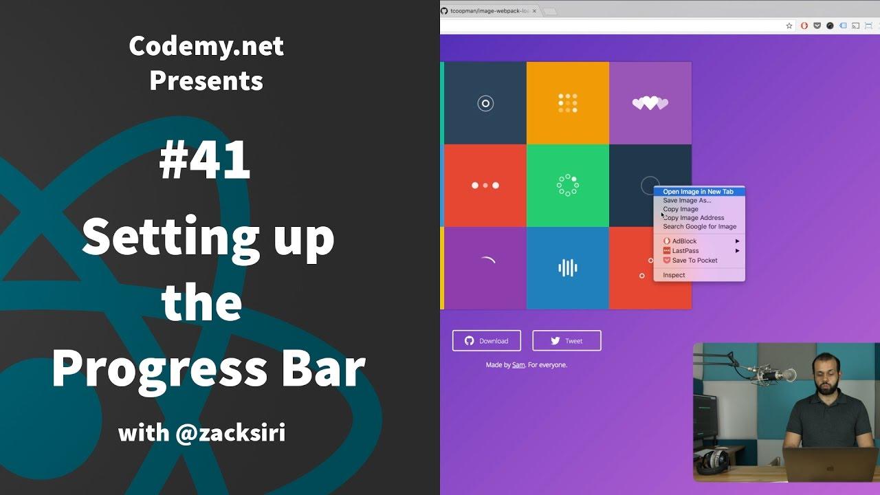 React: Setting up the Progress Bar