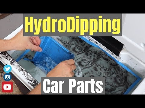 HYDRO DIPPING CAR PARTS AT HOME  🚗🏠