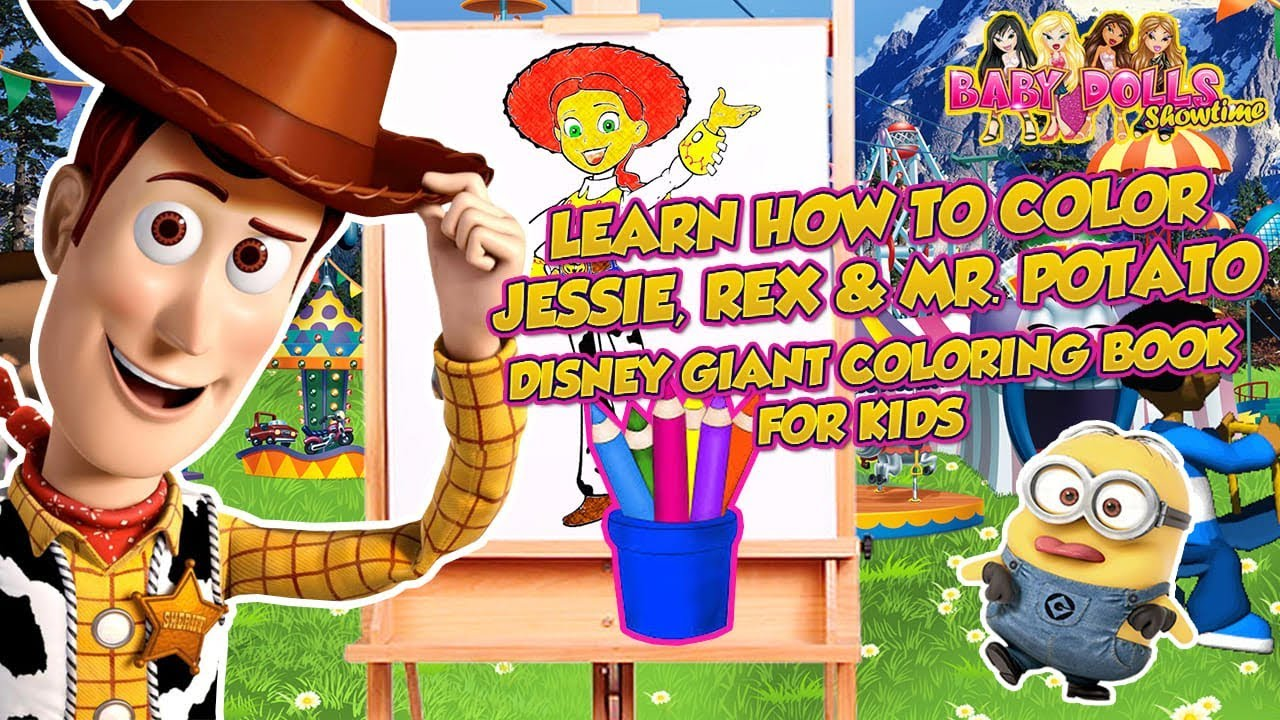 Disney Toy Story 4 Coloring Page Drawing Coloring For Kids Giant Coloring Book How To Color