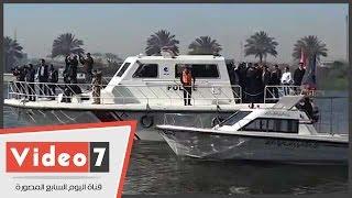 وزير الرى أثناء إزالة تعديات على النيل بحلوان:نعمل ليرى المواطنون المنظر الجمالى