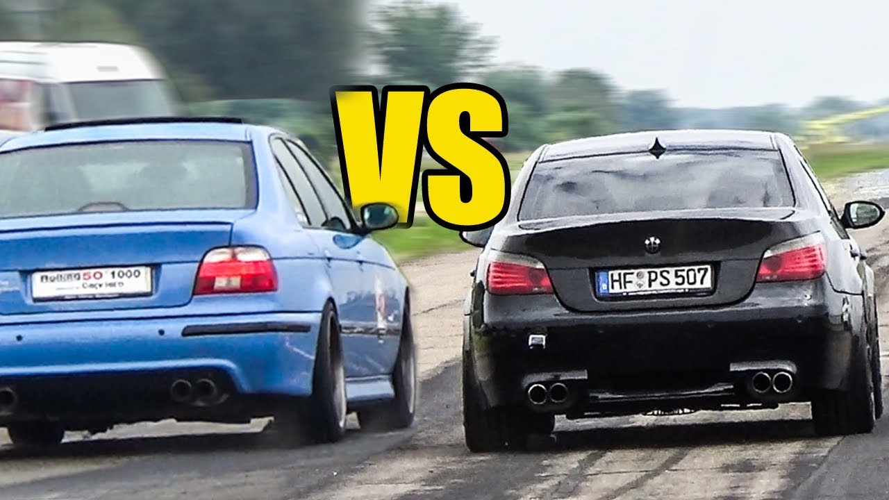 bmw m5 e60 v10 vs m5 e39 v8 revs battle youtube. Black Bedroom Furniture Sets. Home Design Ideas