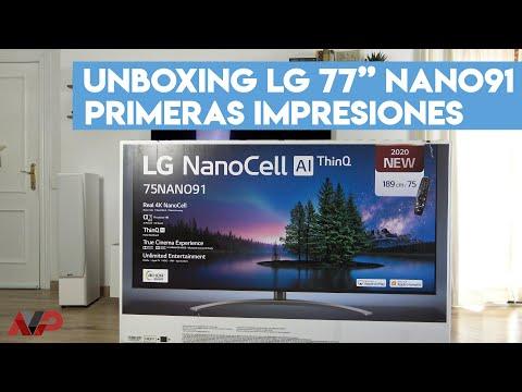 LG Nanocell NANO91: Unboxing y primeras impresiones