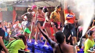 WILD WATER FIGHT- SONGKRAN AT SOI COWBOY 2019. BANGKOK, THAILAND