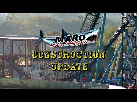 SeaWorld Orlando Mako Construction Update 2.10.16 Trains, Track & More!