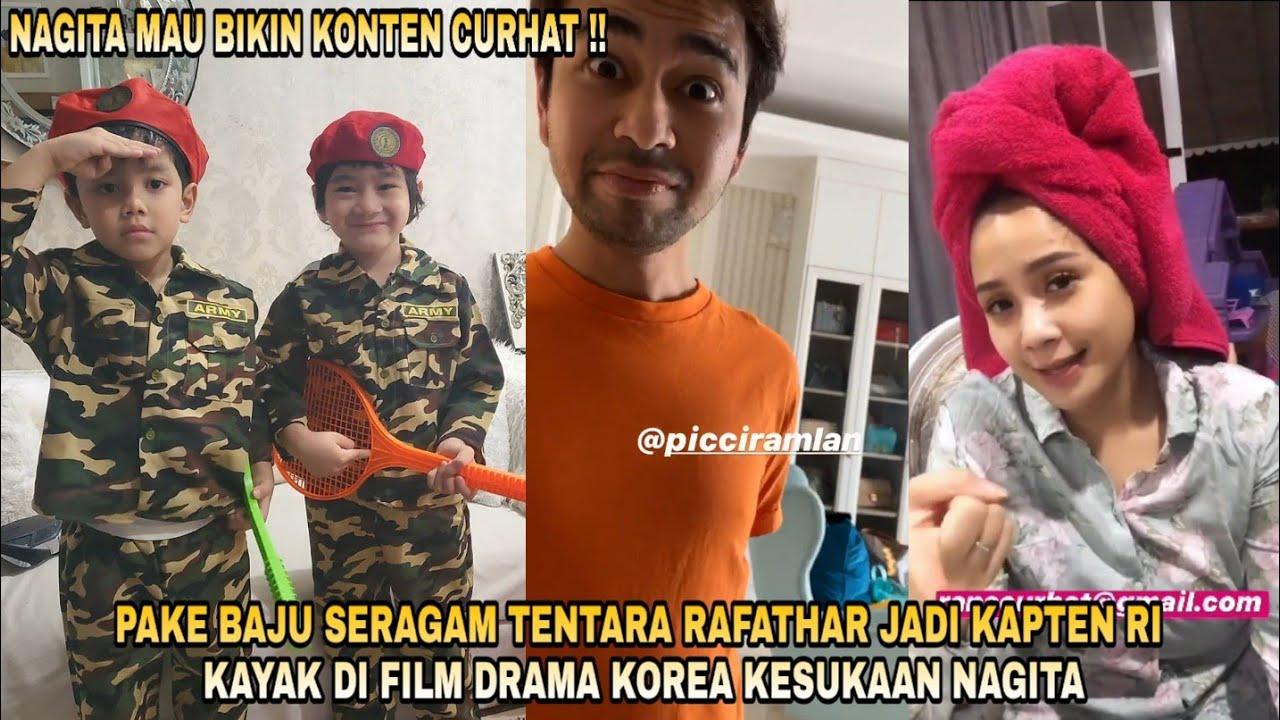 PAKE BAJU SERAGAM TENTARA RAFATHAR JADI KAPTEN RI KAYAK DI FILM DRAKOR KESUKAAN NAGITA !!