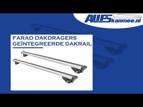 Farad dakdragers voor auto met geïntegreerde dakrails