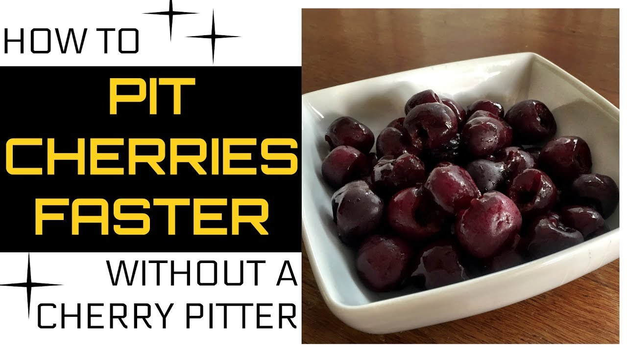 Pit Cherries Faster! (without using a cherry pitter)