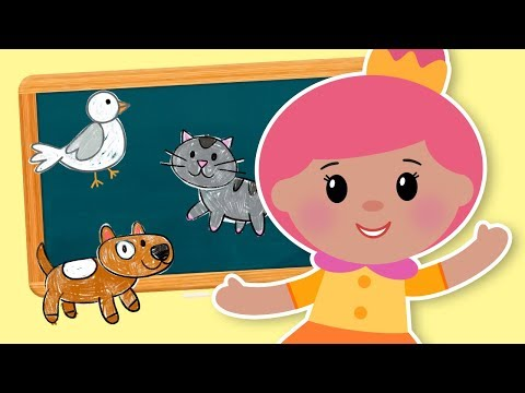 Animal Sounds Songs for Kids by Mother Goose Club | Animated Songs for Children | Moo Cluck Squeak