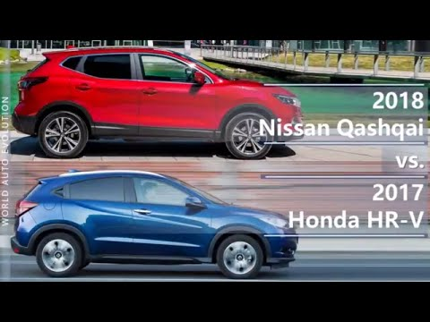 2018 Nissan Qashqai vs 2017 Honda HR-V (technical comparison)