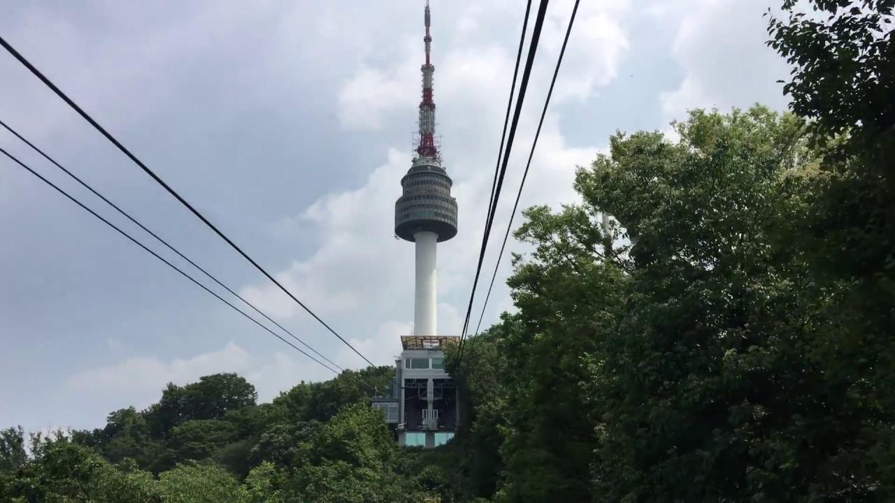 Namsan cable car - Namsan Cable Car Up To N Seoul Tower N Seoul Korea In 4k