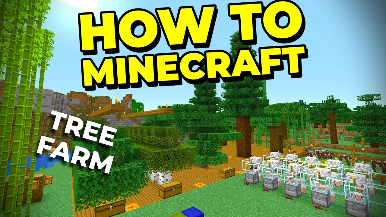 The BEST Simple Tree Farm to Build in Minecraft! - How to Minecraft #26
