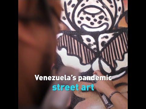 Venezuela's pandemic street art