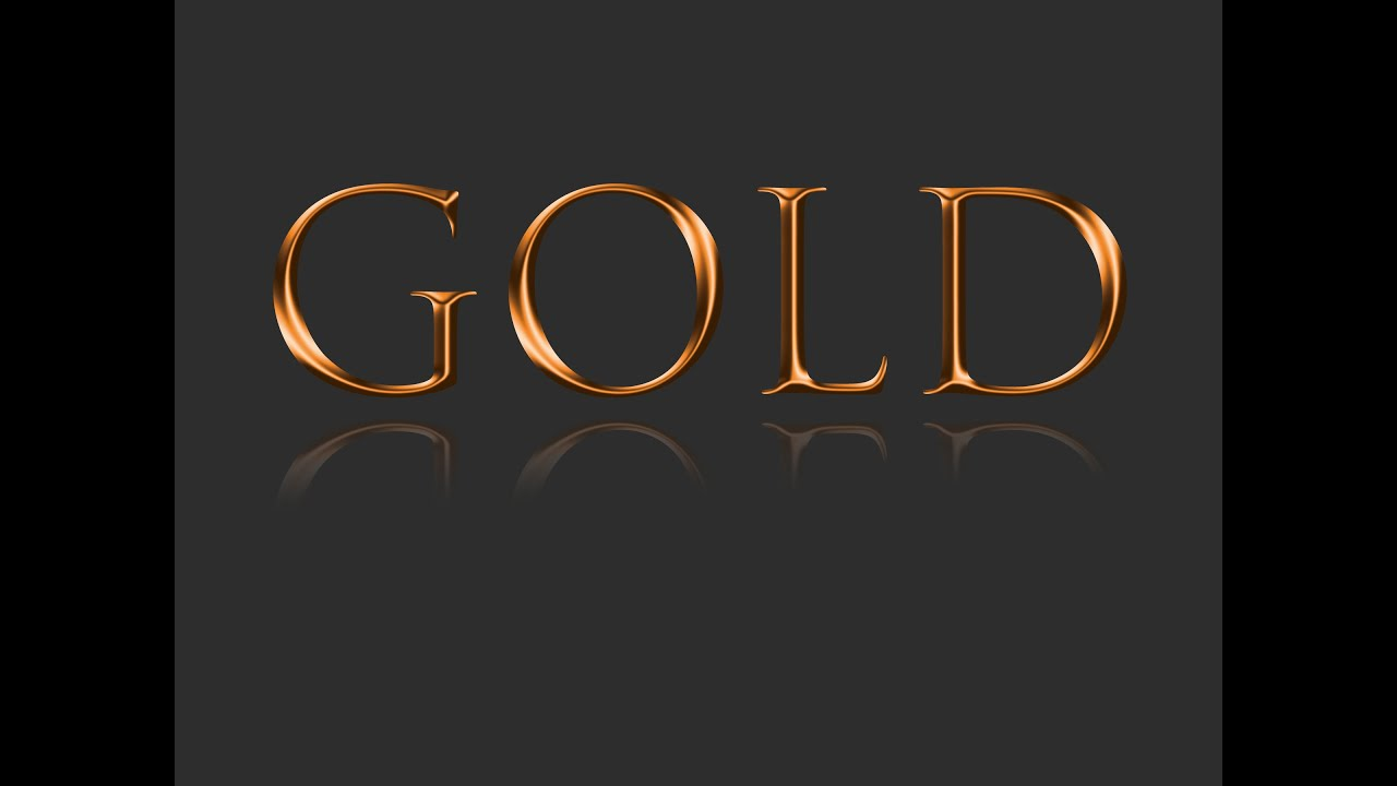 Photoshop tutorial how can make a gold effect text just using photoshop tutorial how can make a gold effect text just using layer effects youtube baditri Image collections