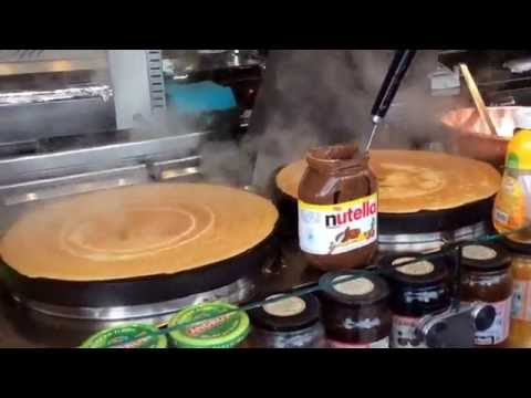 Crepes in Paris eiffel tower , France!