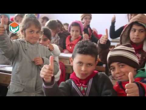 هيئة ساعد الخيرية - ترميم و افتتاح مدرسة جلمة بريف عفرين