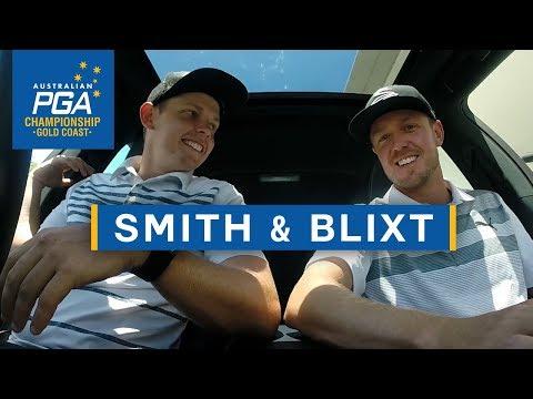 Cameron Smith and Jonas Blixt take a drive - 2017 Australian PGA Championship