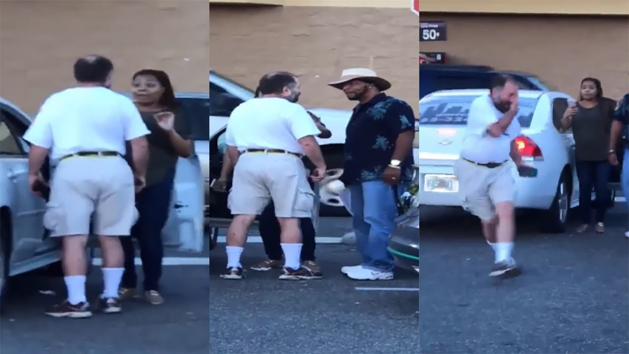Download Black Man Steps In To Protect Pregnant Woman From Raving Lunatic