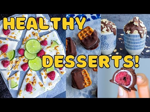 Healthy Desserts with 5 Ingredients or Less!  VEGAN AND DELICIOUS!